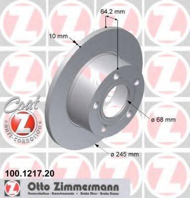 Тормозной диск ZIMMERMANN 100121720 на AUDI 100 седан (4A, C4)