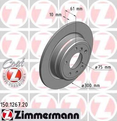 Тормозной диск ZIMMERMANN 150126720 на BMW 5 седан (E34)