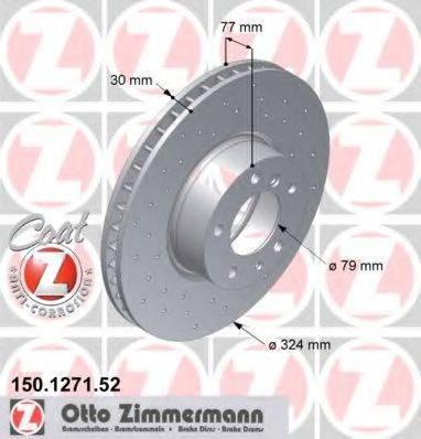 Тормозной диск ZIMMERMANN 150127152 на BMW 7 седан (E32)