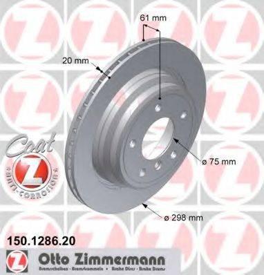 Тормозной диск ZIMMERMANN 150128620 на BMW 5 седан (E39)