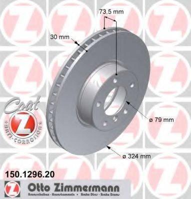 Тормозной диск ZIMMERMANN 150129620 на BMW 5 седан (E39)