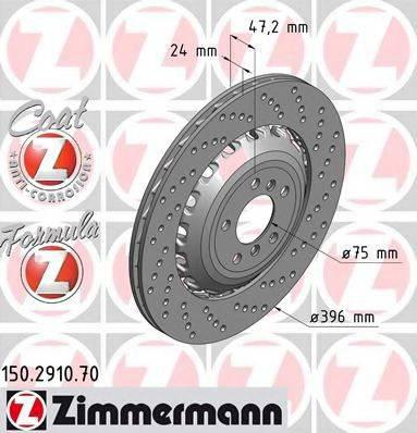 Тормозной диск ZIMMERMANN 150291070 на BMW 6 купе (F13)