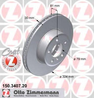 Тормозной диск ZIMMERMANN 150340720 на BMW 7 седан (E65, E66, E67)