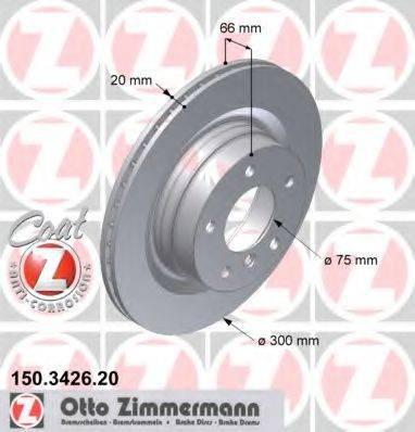 Тормозной диск ZIMMERMANN 150342620 на BMW 3 Touring (E91)
