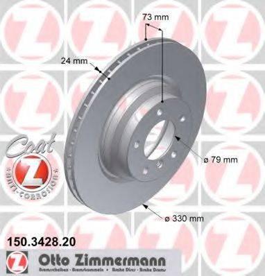 Тормозной диск ZIMMERMANN 150342820 на BMW 3 Touring (E91)