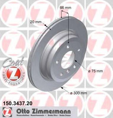 Тормозной диск ZIMMERMANN 150343720 на BMW 3 Touring (E91)