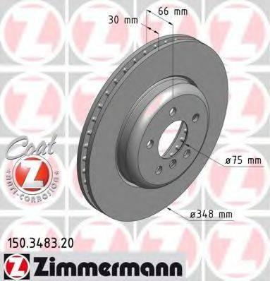 Тормозной диск ZIMMERMANN 150348320 на BMW 5 (F10, F18)