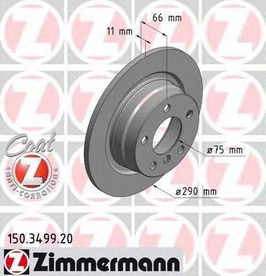 Тормозной диск ZIMMERMANN 150349920 на BMW 1 (F20)