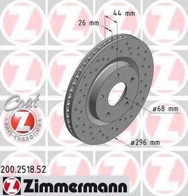 Тормозной диск ZIMMERMANN 200251852 на NISSAN X-TRAIL (T31)