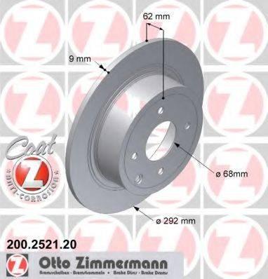 Тормозной диск ZIMMERMANN 200252120 на NISSAN CUBE (Z12)