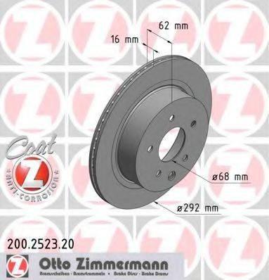 Тормозной диск ZIMMERMANN 200252320 на NISSAN LEAF