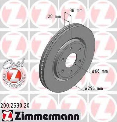 Тормозной диск ZIMMERMANN 200253020 на NISSAN NP300
