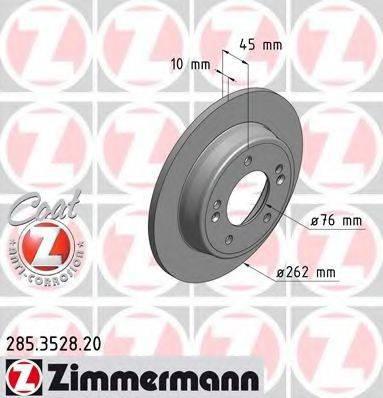 Тормозной диск ZIMMERMANN 285352820 на HYUNDAI ELANTRA GT (GD)