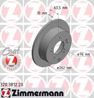 Тормозной диск ZIMMERMANN 320381220 на KIA SOUL (AM)