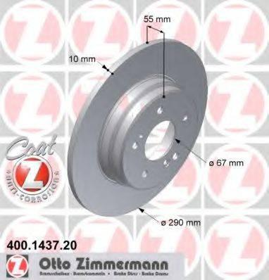 Тормозной диск ZIMMERMANN 400143720 на MERCEDES-BENZ C-CLASS седан (W202)