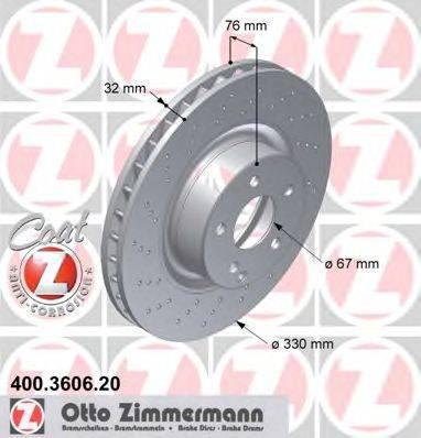 Тормозной диск ZIMMERMANN 400360620 на MERCEDES-BENZ S-CLASS седан (W220)