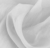 Тюль шифон однотонный белый