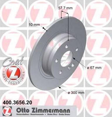 Тормозной диск ZIMMERMANN 400365620 на MERCEDES-BENZ C-CLASS T-Model (S204)
