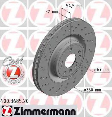 Тормозной диск ZIMMERMANN 400368520 на MERCEDES-BENZ M-CLASS (W166)