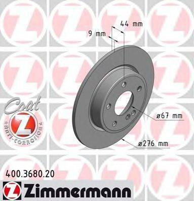 Тормозной диск ZIMMERMANN 400368020 на MERCEDES-BENZ B-CLASS (W246, W242)