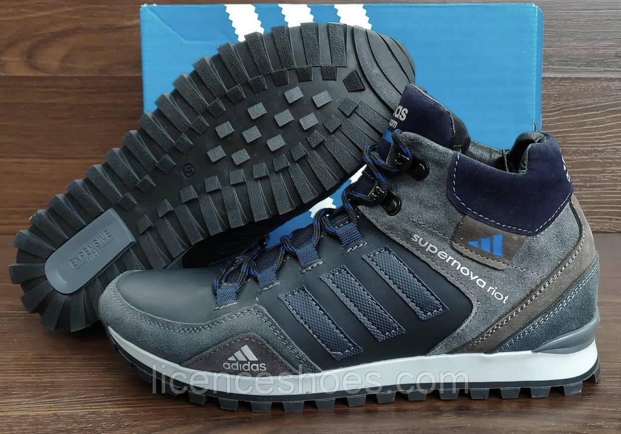 Мужские кожаные зимние кроссовки Adidas CloudFoam Flow. Последняя пара 41 - стелька 26.5-27см полный 41