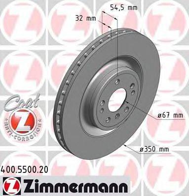 Тормозной диск ZIMMERMANN 400550020 на MERCEDES-BENZ M-CLASS (W166)