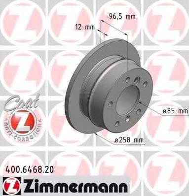 Тормозной диск ZIMMERMANN 400646820 на MERCEDES-BENZ SPRINTER 2-t автобус (901, 902)
