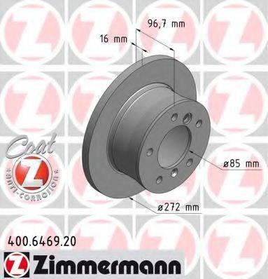 Тормозной диск ZIMMERMANN 400646920 на MERCEDES-BENZ G-CLASS (W461)