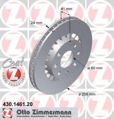Тормозной диск ZIMMERMANN 430146120 на OPEL KADETT E Наклонная задняя часть (33_, 34_, 43_, 44_)