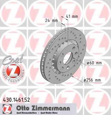 Тормозной диск ZIMMERMANN 430146152 на OPEL KADETT E Наклонная задняя часть (33_, 34_, 43_, 44_)
