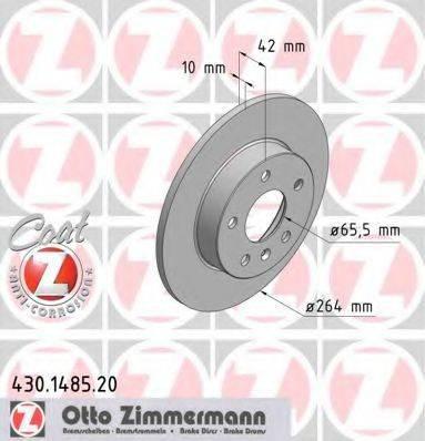 Тормозной диск ZIMMERMANN 430148520 на OPEL ASTRA H Sport Hatch (L08)