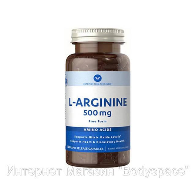 Vitamin World, Аргинин L-Arginine 500 mg, 100 капсул