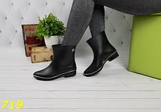 Женские ботинки резиновые непромокаемые, р.36-41
