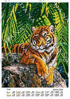 ДАНА-2298 Тигр, схема под бисер