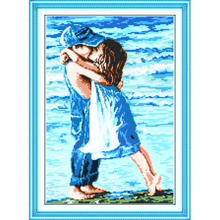 """Вышивка крестиком """"Детский поцелуй 2"""" 39*55 см. - Интернет-магазин """"Беби-BOMBA"""" в Киевской области"""