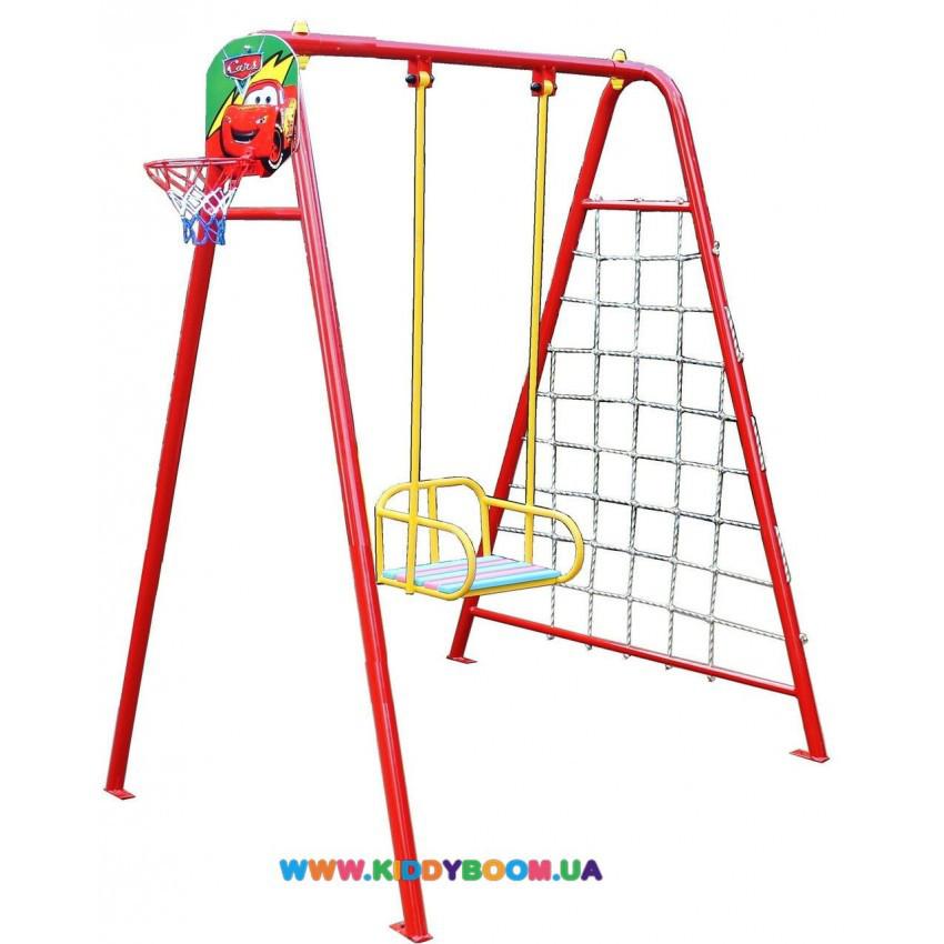 Качели детские 4 в 1 (баскетбольное кольцо+ гладиаторская сетка+дартс) Dali 701/к