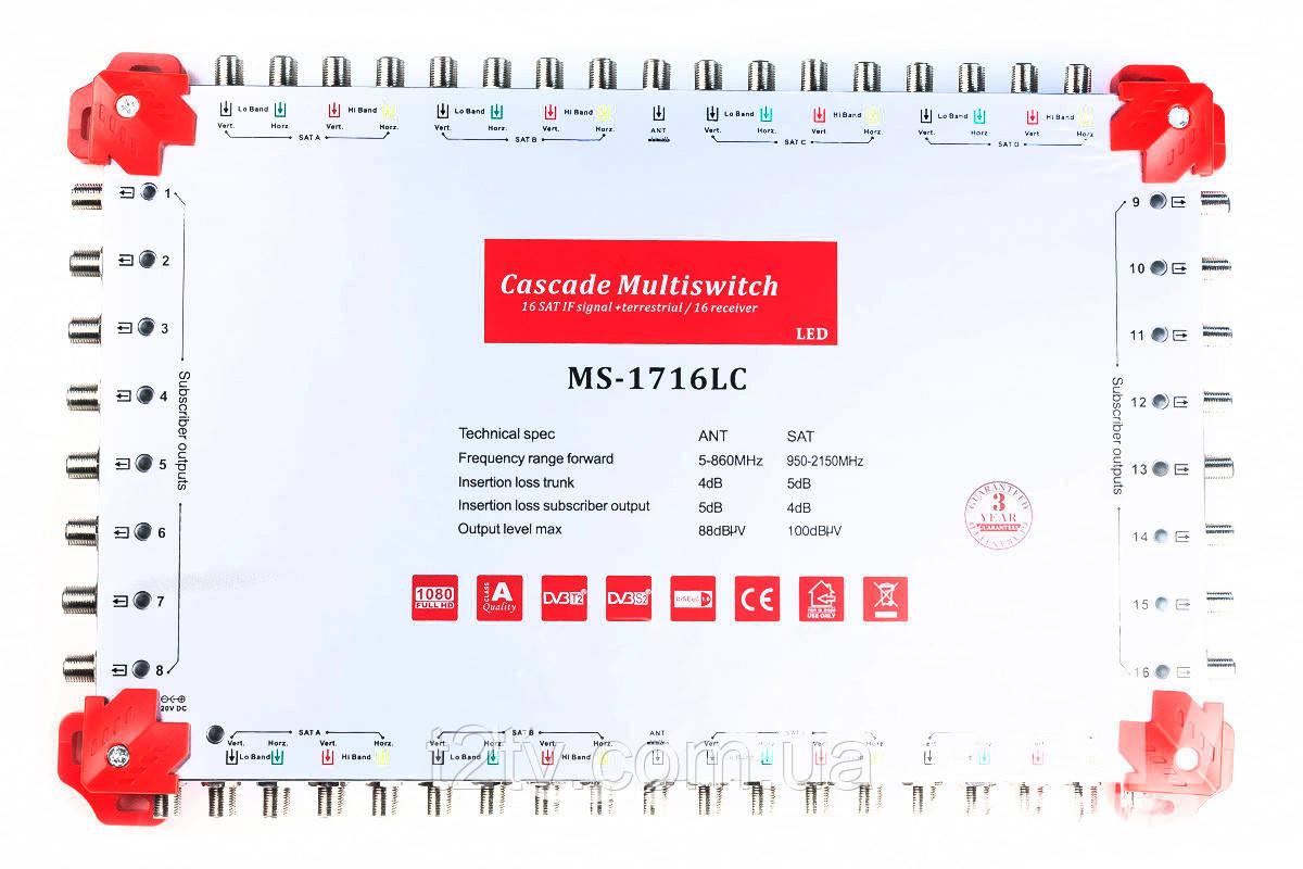 Мультисвитч каскадируемый 17/16 MS-1716LC