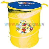 Бочка для игрушек желтая Devik Play ТО303А