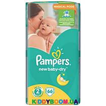 Подгузники Pampers New Baby-Dry 2 (3-6 кг) 66 шт.