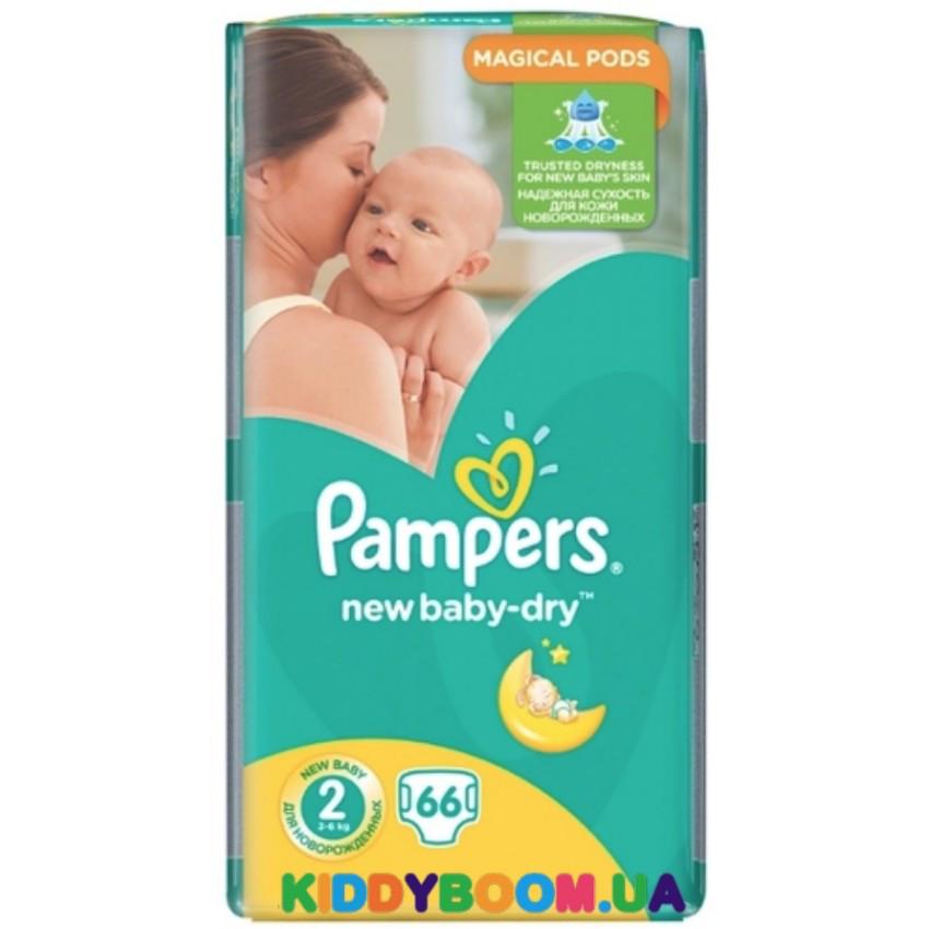 66f22ba989a2 Подгузники Pampers New Baby-Dry 2 (3-6 кг) 66 шт., цена 319 грн ...