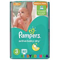 Подгузники Pampers  Active Baby Dry 3  Midi  (5-9 кг) 82 шт