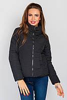 Куртка однотонная поздняя осень AG-0004403 Черный