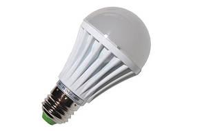 Светодиодная лампа 7Вт Е27  220Вт 22 диода SMD2835 тепло белая