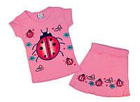 Детская одежда оптом из Турции babexi Комплект для девочки Божья Коровка  р.1,2,3,4года(полномер).