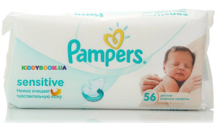 Салфетки Pampers Sensitive 56 шт.