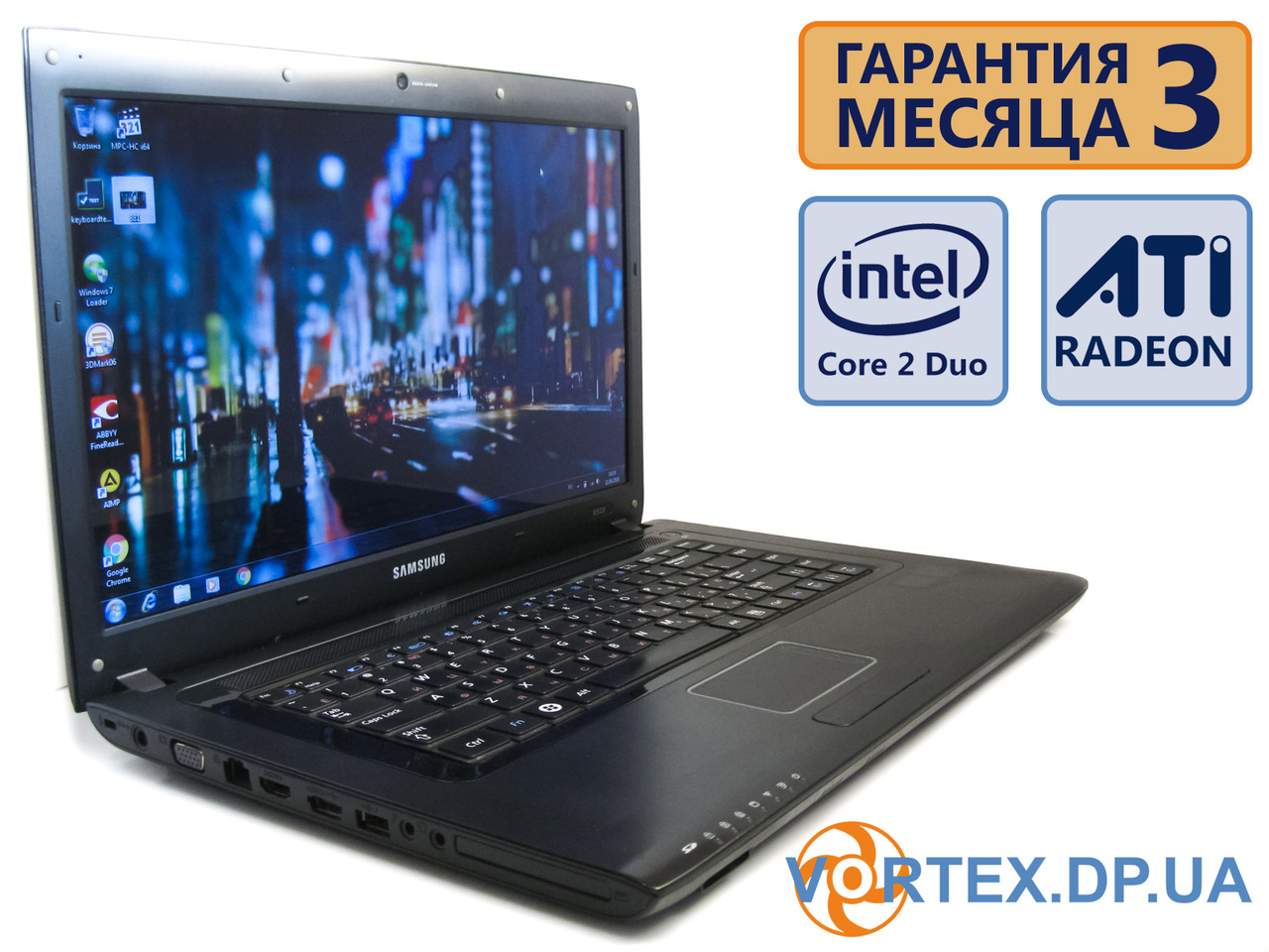Ноутбук Samsung R522 15.6 (1366x768) / Intel Core 2 Duo T5750 (2x2GHz)