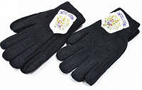 Перчатки шерстяные двойные женские, подросток Mozart черные ПЖЗ-6