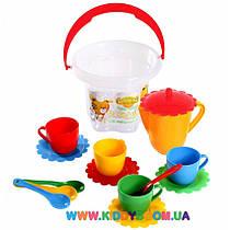 Набор посуды Ромашка в ведре 15 элементов Тигрес 39121