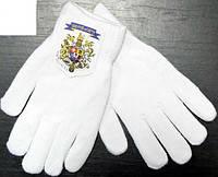 Перчатки шерстяные двойные женские, подросток Mozart черные ПЖЗ-5