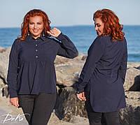 Рубашка-туника №41114 (р.48-56) \ т.синяя, фото 1